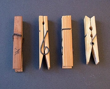 bamboo clothespins, torsion springs