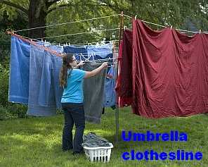 Umbrella Clotheslines