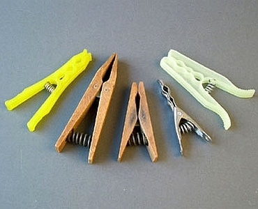 clothespins with coil springs